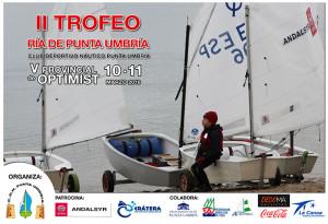 Cartel de la prueba náutica que tendrá lugar este fin de semana en Punta Umbría.