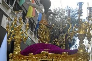 Portentoso paso de misterio Archicofradía de la Vera+Cruz y Oración en el Huerto. / Foto: Sergio Borrero.