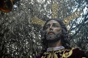 Rostro del Cristo de la Oración, obra del imaginero Luis Ortega Bru. / Foto: Sergio Borrero.