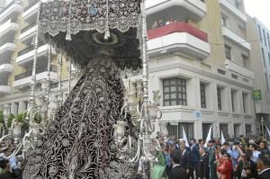Un momento de la salida procesional de la pasada Semana Santa. / Foto: Sergio Borrero.