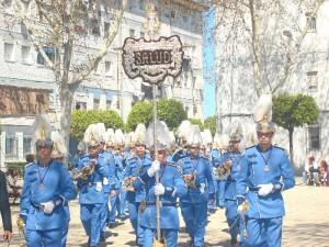 La Banda de Cornetas y Tambores de la Virgen de la Salud.