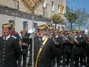 La Agrupación Musical 'Cristo del Amor' de la Sagrada Cena de Huelva ha vuelto a poner el acompañamiento musical.