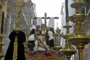 El conjunto escultórico quedó completado la pasada Semana Santa con la inclusión de la imagen de San José de Arimatea. / Foto: Sergio Borrero.
