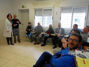 Una de las sesiones celebradas en el centro de salud de Cartaya.