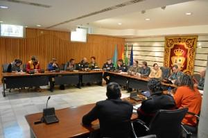 En la reunión se acordó la coordinación de todas las Fuerzas de Seguridad, a las que se unirá seguridad privada de los organizadores del evento.