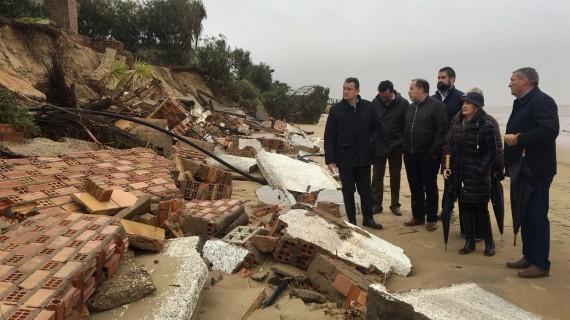 Desciende ligeramente el número de incidencias asociadas al temporal, al tiempo que se planifica la regeneracion del litoral onubense
