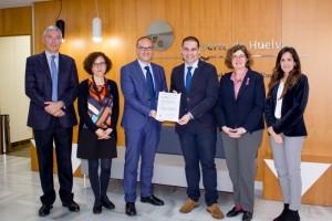 Entrega del Certificado ISO al Puerto de Huelva.