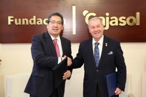 La Fundación Cajasol reafirma su apoyo a la Semana de Pasión onubense.
