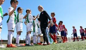 Atlético de Madrid y Córdoba disputaron una final Prebenjamín de la Gañafote Cup mucho más reñida de lo que reflejó el marcador.