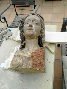 La restauración no era fácil, porque no existía ninguna fotografía de su estado original. / Foto: Jesús Mendoza.