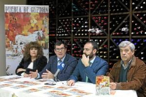Presentación de la XI Feria Ganadera en el Restaurante El Portichuelo.