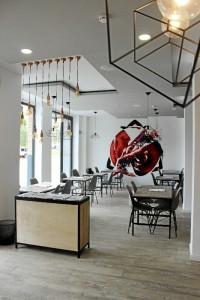 La estética el restaurante invita al disfrute de las sensaciones.