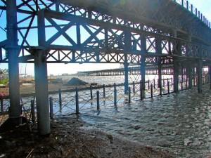 Una imagen en el Muelle de la Compañía de Riotinto en Huelva.