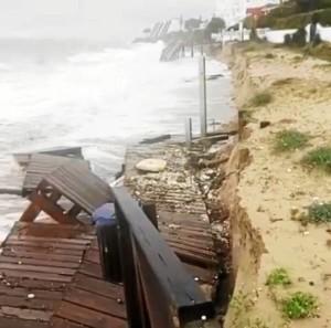 El temporal ha afectado a las playas de Huelva. / Foto: Playas de Huelva.