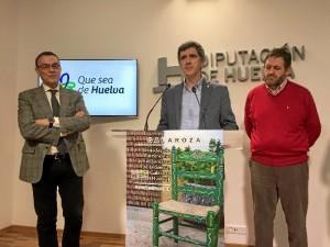 El alcalde de la localidad de Galaroza presentando Las XXXIII Jornadas de Patrimonio de la Sierra.