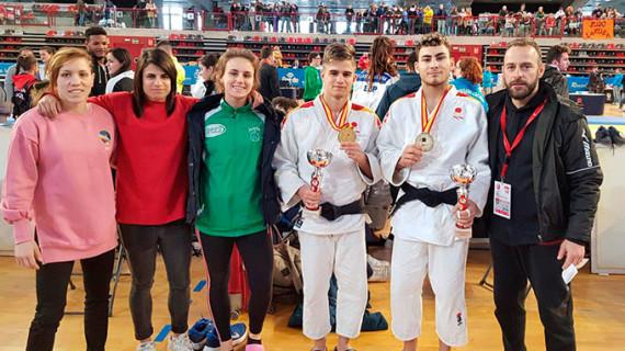 Doblete de oro para el Huelva TSV de judo en el Campeonato de España Júnior