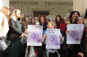 Lectura del Manifiesto Reivindicativo con motivo del Día Internacional de la Mujer.