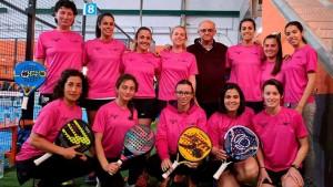Componentes del equipo femenino del Club de Pádel La Volea.