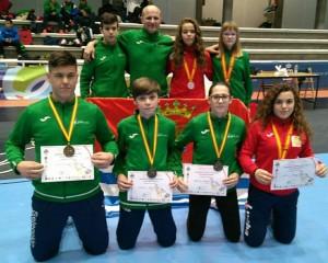 Componentes del Club de Lucha El Campeón que han tomado parte en el Campeonato de España. / Foto: @luchaelcampeon.