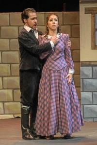 Interpretando a Luisa en la zarzuela Luisa Fernanda (Moreno Torroba), en el Teatro Lope de Vega de Sevilla.