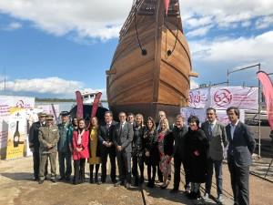 Ha sido construida a escala real en los astilleros de Punta Umbría por la Fundación Nao Victoria.