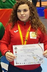 Natalia Pereda González, deportista del Club de Lucha El Campeón de Cartaya. / Foto: @luchaelcampeon.
