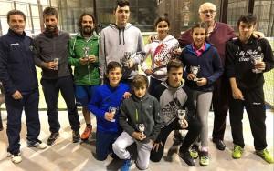Vencedores del Open de Menores y Absoluto de pádel.