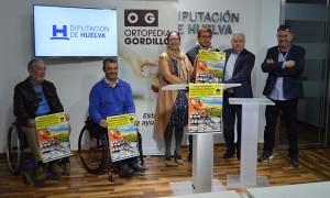 Un momento de la presentación deI Open Nacional de Pádel en Silla de Ruedas que se celebrará en Punta Umbría este fin de semana.