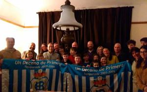 El Recreativo de Huelva inauguró su primera peña en Inglaterra, en Neston. / Foto: @FdP_RCRH.