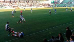 Partido con pocas ocasiones en el estadio Romano. / Foto: M. P.