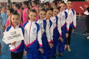 Representantes del Club Rítmico Colombino en uno de los eventos del pasado fin de semana.