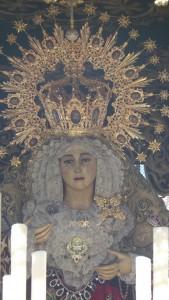 La corona de la Virgen del Amor tiene nuevos detalles tras su restauración.