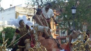 Detalle del paso de Jesús de las Cadenas.