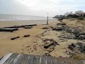 Consecuencias del temporal en El Portil.