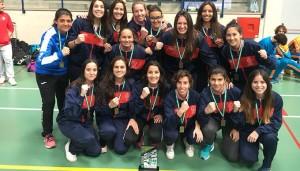 Equipo de fútbol sala femenino de la UHU, bronce en el Campeonato de Andalucía Universitario.