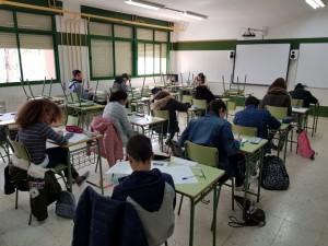 Estudiantes durante la prueba.