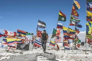 Luis, en una de sus paradas en Bolivia. / Foto:  Luis Benítez.