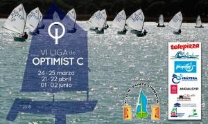 Cartel de la VI Liga de Óptimist, que tiene una nueva cita el sábado y domingo en Punta Umbría.
