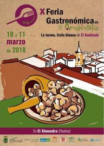 Cartel anunciador de la X Feria Gastronómica de El Almendro, que se celebra este fin de semana.