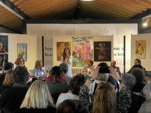 Un momento de la participación de la Delegada de Cultura en Huelva.