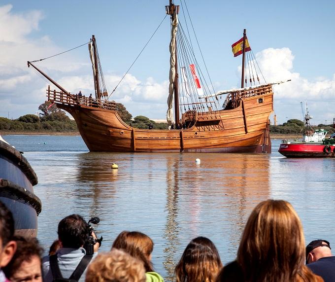 La réplica de la Nao Santa María puede visitarse los días 30 y 31 de marzo en el Muelle de Levante