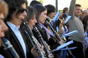 La Banda Sinfónica del Liceo Municipal de la música de Moguer, acompañamiento musical de Nuestra Señora del Valle.