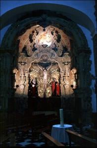 Retablo del Cristo del Buen Viaje de Cádiz, del que es autor Benito de Hita, junto a Julián Jiménez. / Foto: IAPH.