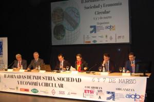 Inauguración de las II Jornadas de Industria, Sociedad y Economía Circular.