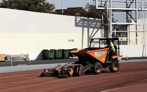 Remodelan las pistas del Estadio Iberoamericano de Atletismo Emilio Martín