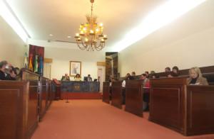Sesión plenaria en la Diputación de Huelva.