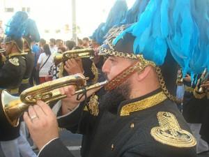 La Banda de Cornetas y Tambores Stmo. Cristo a la Columna 'El Amarrado' de Ávila acompañará por primera vez al Prendimiento.