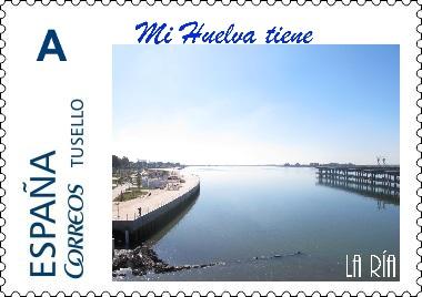 La serie 'Mi Huelva tiene algo más que una ría' recrea en sellos lugares onubenses emblemáticos