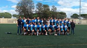 Formación del Bifesa Tartessos en el partido de este domingo en Punta Umbría.
