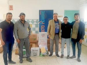 Donación de alimentos.